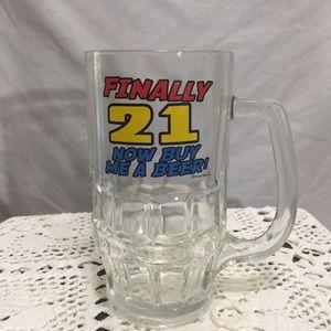 4/$10 Finally 21 beer now buy me a beer mug